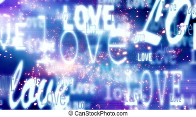 Love and Particles Looping Animated Background