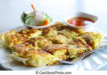 """""""Roti"""" or Thai pancake"""