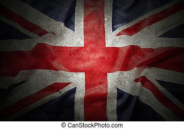 British flag - Closeup of grunge Union Jack flag