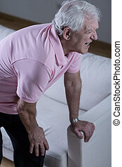 artritis, en, viejo, edad,