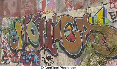 berlin wall cu graffiti pan wall - BERLIN WALL, BERLIN -...