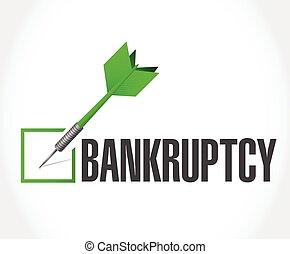 bankruptcy dart check mark