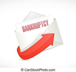 bankruptcy email illustration