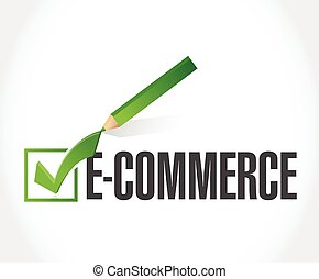e-commerce check of approval illustration design over a...
