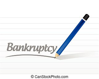bankruptcy message sign