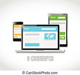 e-commerce technology concept illustration design over a...