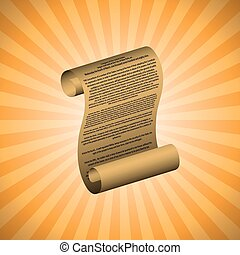 The first amendment on orange background with readable text...