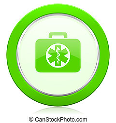 rescue kit icon emergency sign