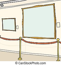 Blank Picture Frames in Museum