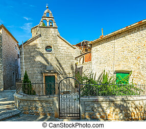 St.Martin church Supetar - The old church of St. Martin also...