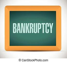 bankruptcy board sign illustration