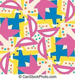 Pink Semi-Circles Seamless Pattern