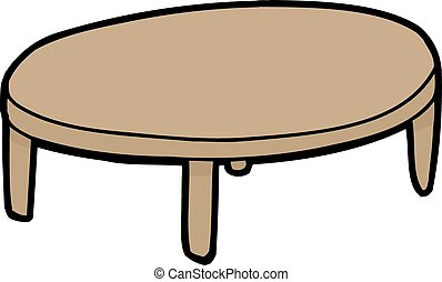 Single Wooden Table