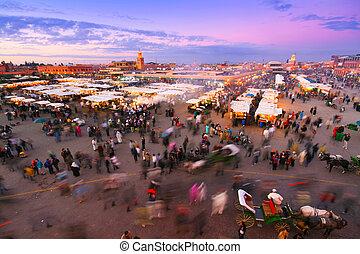 Jamaa el Fna, Marrakesh, Morocco. - Jamaa el Fna also Jemaa...