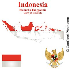 Indonesia Flag - Flag and national emblem of the Republic of...