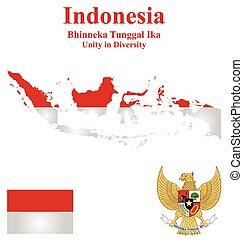 Indonésia, bandeira,