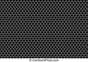 Black Dots on Black background - Pattern - Black Dots on...