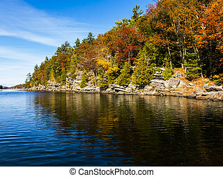 Scenic Autumn Colors Reflected in the water