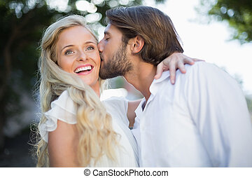 Attractive couple spending time together on a sunny day in...