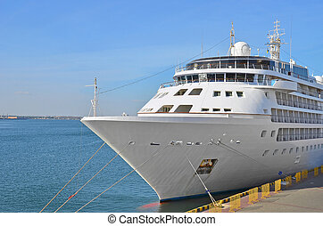 Cruise travel ship - Cruise tourist ship in Black sea,...
