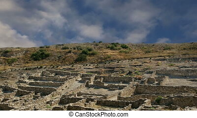 Ancient ruins of Kamiros, Rhodes - Greece time lapse