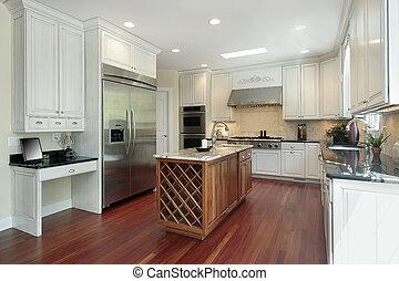 家, 建設, 廚房, 新