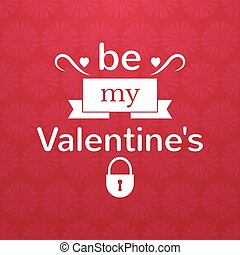 Valentines Day typography, vector illustration - Valentines...