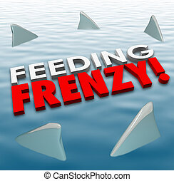 Feeding Frenzy Shark Fins Water Hungry Competition Opponents...