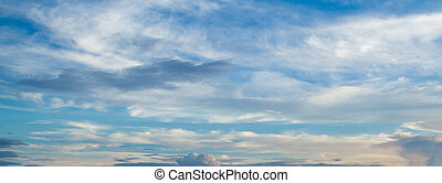 Blue sky background - View white cloud with blue sky...