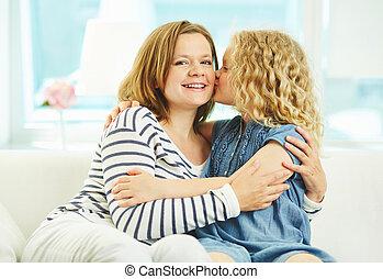 Kissing mom