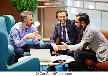 Negotiations - Business companions negotiating