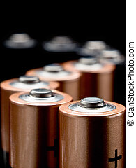 accumulated electric energy - batteries in a S-shaped column...