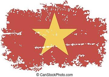 Vietnamese grunge flag Vector illustration - Vietnam grunge...