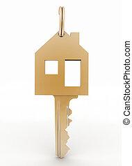 3d model  symbol house key  - 3d model  symbol house key