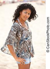 Brazilian beach beauty - Beautiful brazilian girl on the...
