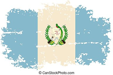 Guatemalan grunge flag Vector illustration Grunge effect can...