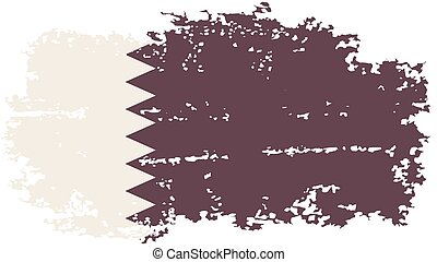 Qatari grunge flag Vector illustration - Qatar grunge flag...