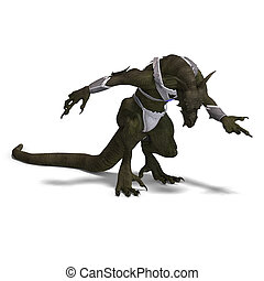 Fantasy Dragon Warrior
