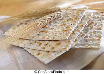 Matzo and ears on a towel