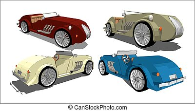 Old Timer, vector images - Four vector images of old times...
