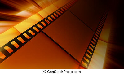 Films with shine. Seamlessly loopable motion background