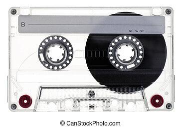 Compact Cassette - Transparent Compact Cassette B-side on...