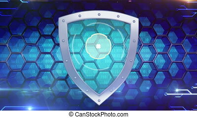 Digital dhield - Information security concept