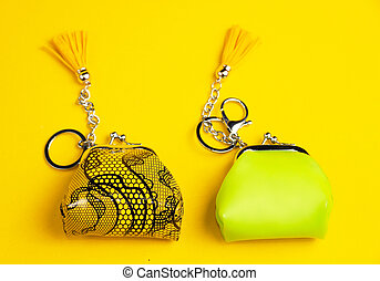 Small colorful purses - bright and shiney Small colorful...