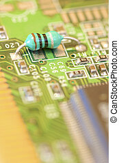 resistor in a electronic circuit board