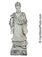 Stone Chinese Nobleman in the Temple of the Emerald Buddha