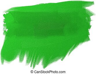 green oil paint - Vector illustration strokes oil paint