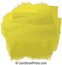 yellow oil paint - Vector illustration strokes oil paint