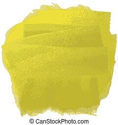 yellow oil paint - Vector illustration strokes oil paint