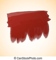 red oil paint - Vector illustration strokes oil paint